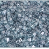 Square Beads 3.4x3.4mm Square Hole Green Luster